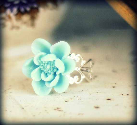Resin Lotus Blossom Ring