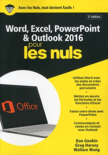 Word Excel Powerpoint Et Outlook 2016 Pour Les Nuls Megapoche 2e Edition Francais Les Nuls Informatique Pour Les Nuls Livre Electronique