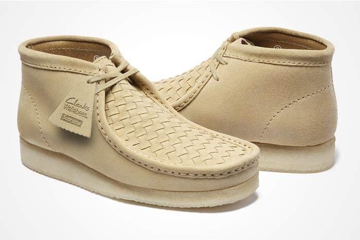 Supreme X Clarks 4 Clarks Shoes Mens Leather Shoes Men Mens