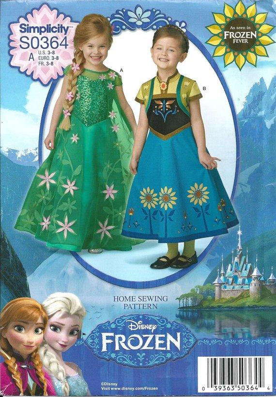 Cinderella FROZEN FEVER PRINCESS DISNEY KIDS COSTUME FANCY DRESS 3-8Y In Stock