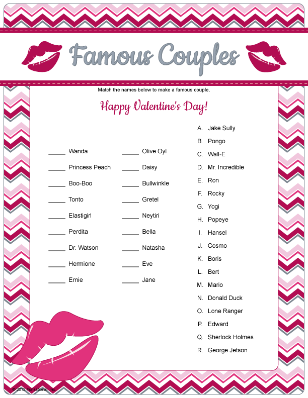 It is a photo of Breathtaking Free Printable Valentine Games for Adults