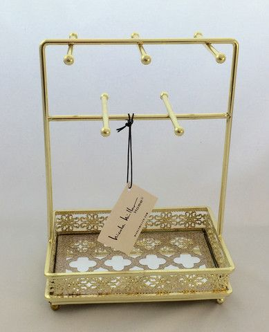 Gold jewelry stand by Nicole Miller Home jewelry jewelrybox gift