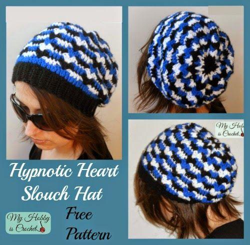 Mi hobby es Crochet: Hypnotic Slouch Corazón Hat - Patrón de ...