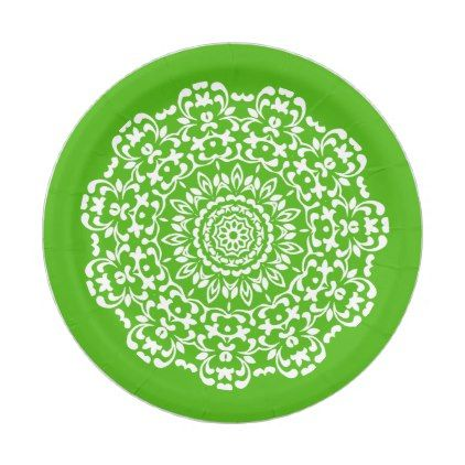 Pretty Elegant Green White Lacy Patterned Paper Plate | Pattern paper and Elegant  sc 1 st  Pinterest & Pretty Elegant Green White Lacy Patterned Paper Plate | Pattern ...