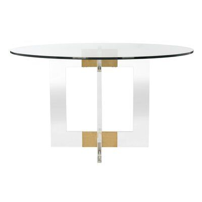 Safavieh Couture Xevera Round Glass Dining Table Size 30 H X 53 L X 53 W In 2021 Glass Round Dining Table Glass Dining Table Round Glass Coffee Table 30 round glass table top