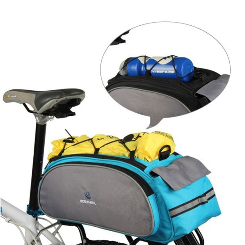 Roswheel 13l Bicycle Rear Rack Shelf Bag Pannier Pack Shoulder Handbag Cycling Bicycle Bags & Panniers