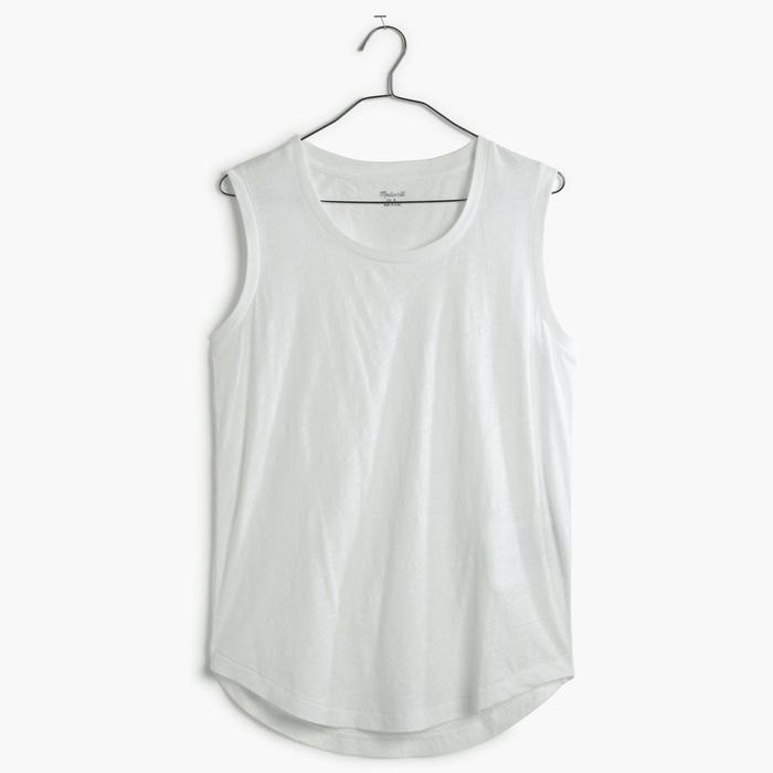 7ef37c4644fa7 10 Best White Tank Tops -  6 Madewell Whisper Cotton Crewneck Muscle Tank   rankandstyle