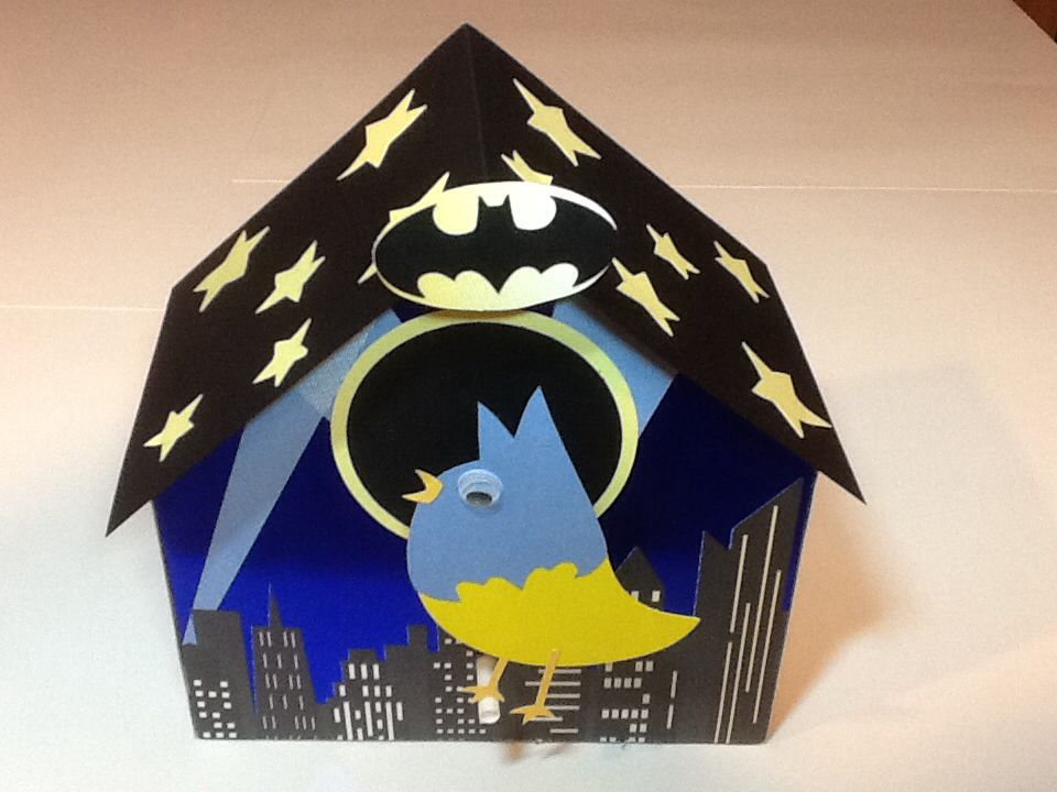 for the boys in my class a batman birdhouse valentine box made from a cereal - Boys Valentine Boxes