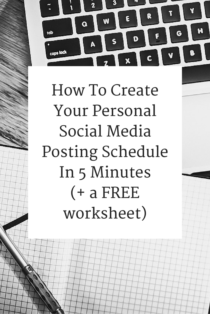 How To Create Your Personal Social Media Posting Schedule In 5 Minutes Social Media Posting Schedule Social Media Tool Online Marketing