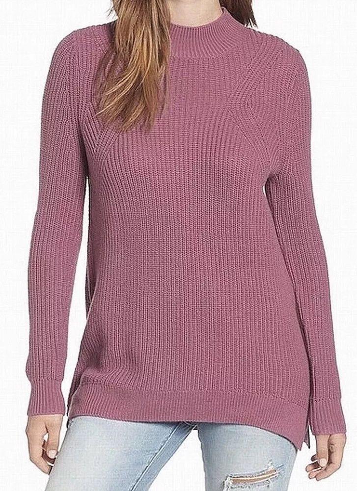 Lauren By Ralph Lauren Plus Size Cable Knit Button Detail Sweater in Purple (Winter Purple) | Lyst