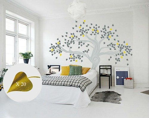 Vinyl wall decal nursery massive photograph household tree image body leaf three http