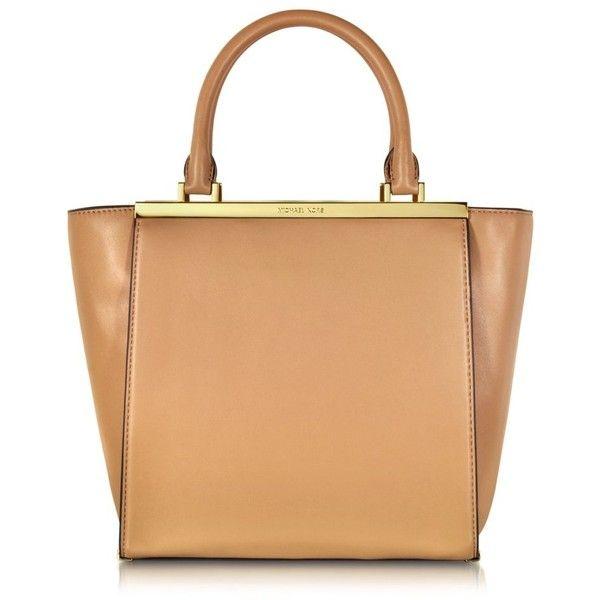 Michael Kors Handbags Lana Leather Medium Tote - Polyvore | Sac ...
