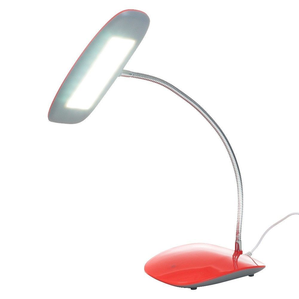 Northwest 18 Led Usb Desk Lamp Touch Activated Red With