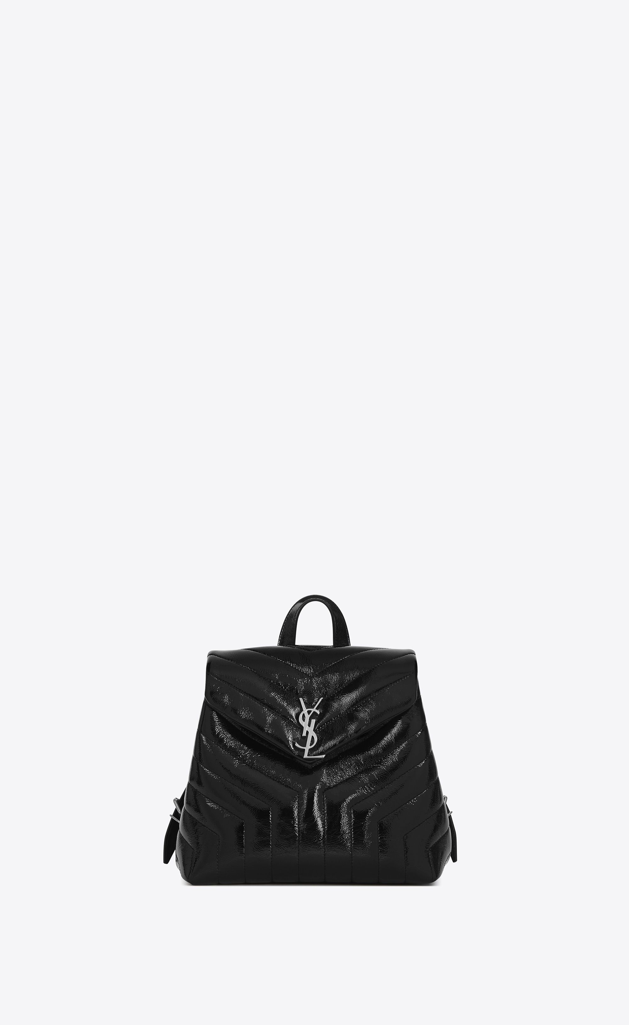 5d43d467f806 Saint Laurent Small LOULOU Backpack In Black