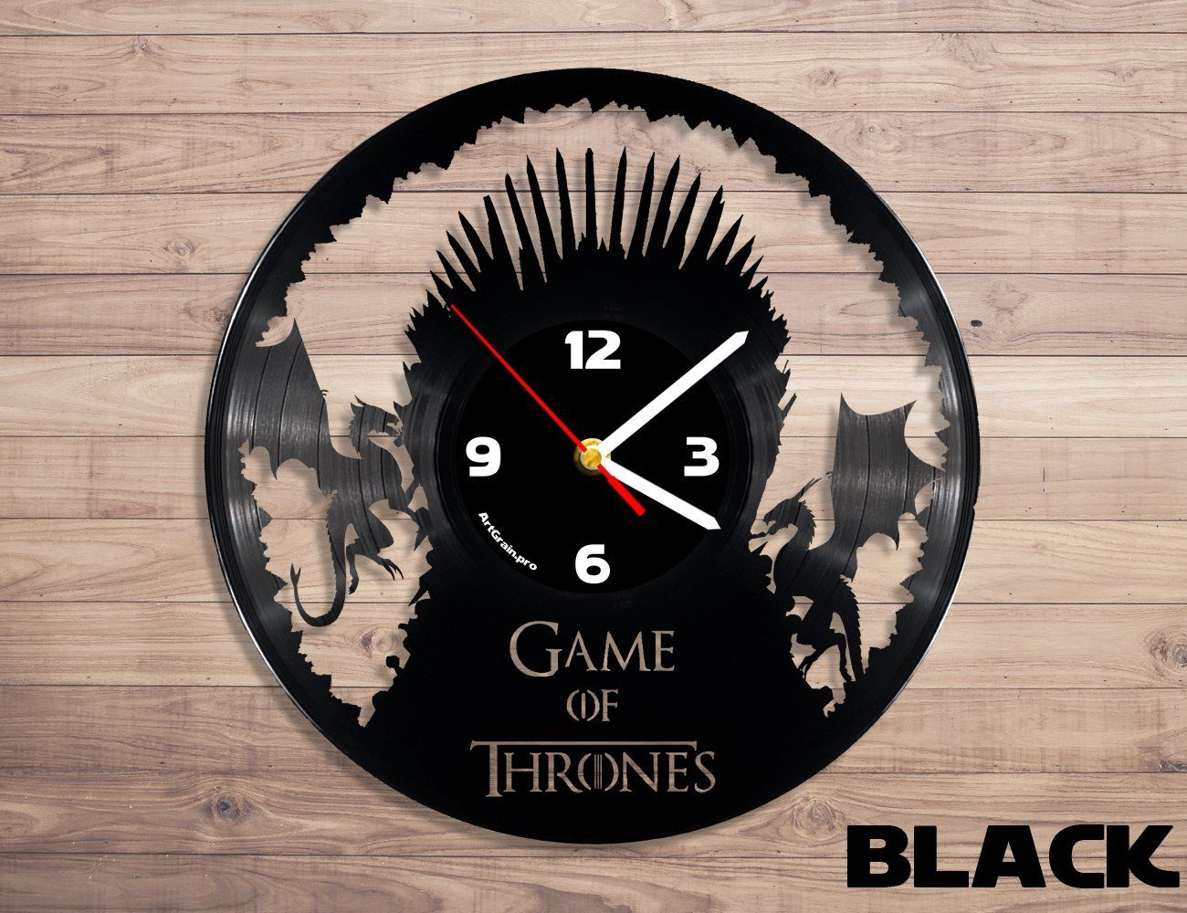 Game of Thrones vinyl record wall clock Home