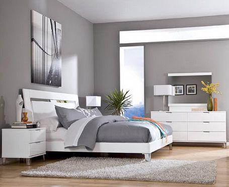 Schlafzimmer Grau – ein modernes Schlafzimmer Interior in grau ...