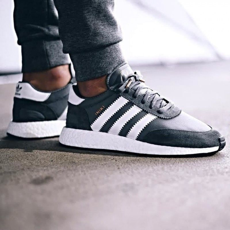 best website a6654 64c29 Adidas Iniki Runner Boost Grey White Mens 4 5 6 7 8 9 12 Ultra New