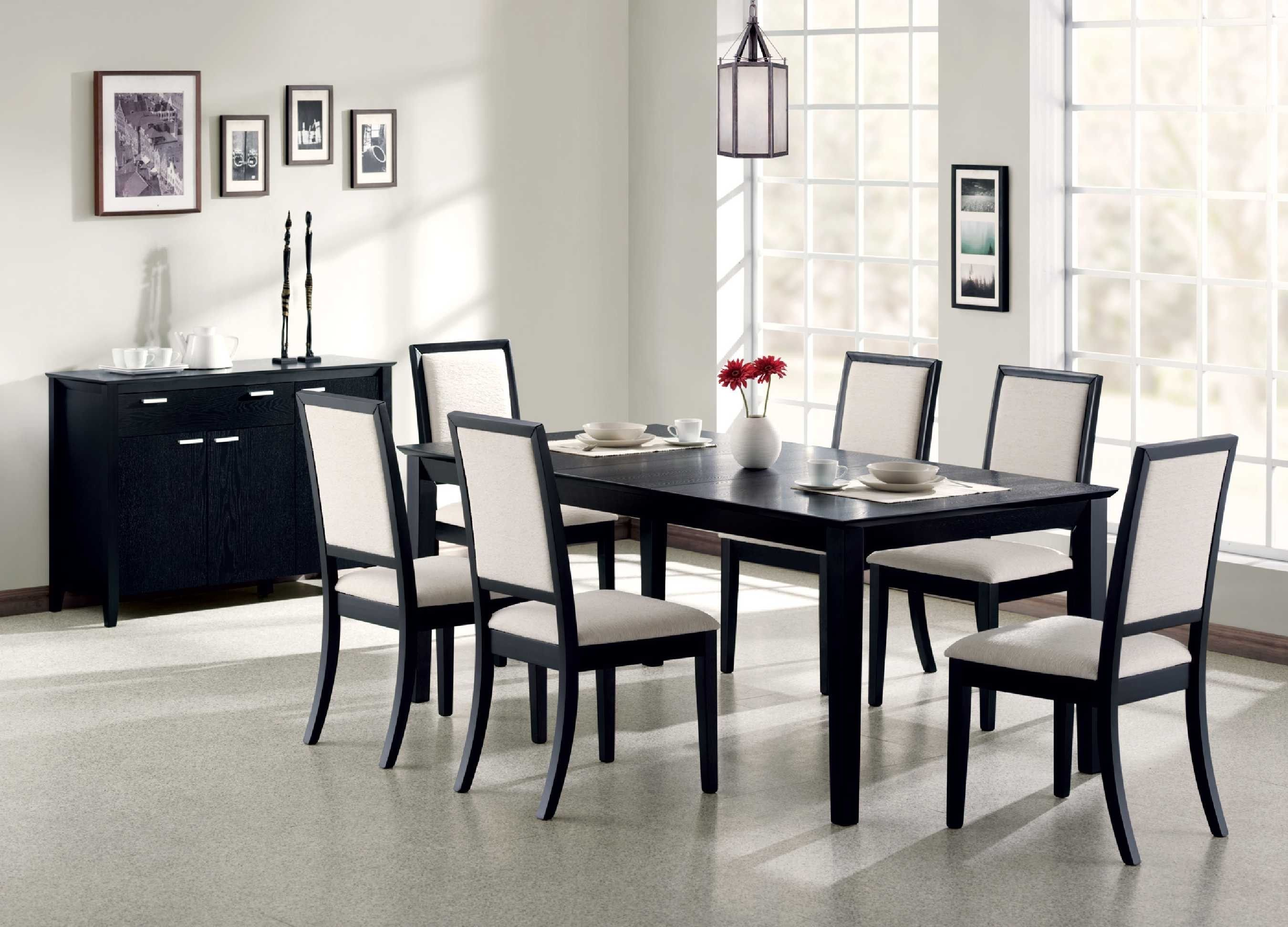 Exceptional Black Wood Kitchen Table Chairs
