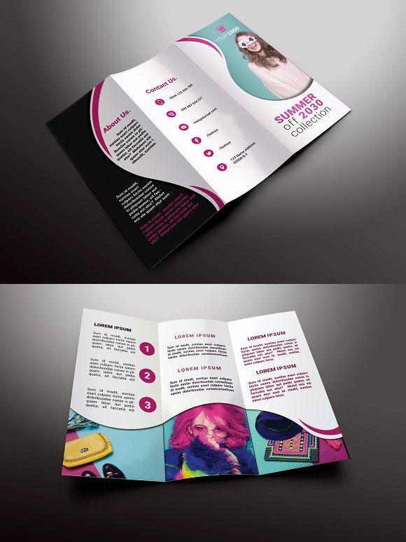 Fashion TriFold Brochures  Tri Fold Brochure Brochure Template