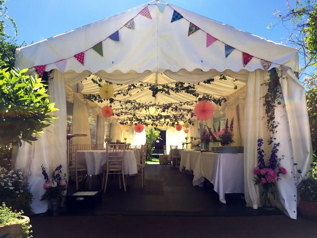 Fiftieth Birthday Marquee In A Long Thin London Garden Small