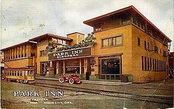 City Bank Park Inn Hotel Mason Iowa Frank Lloyd Wright