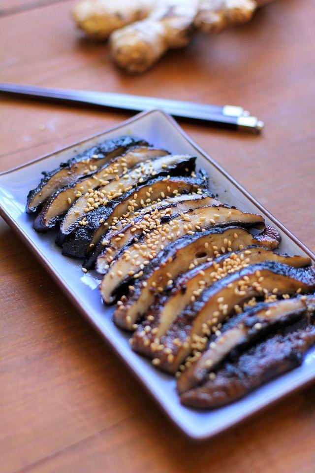 Balsamic Ginger Grilled Portobello Mushrooms Recipe Fun Foods Grilled Portobello Stuffed