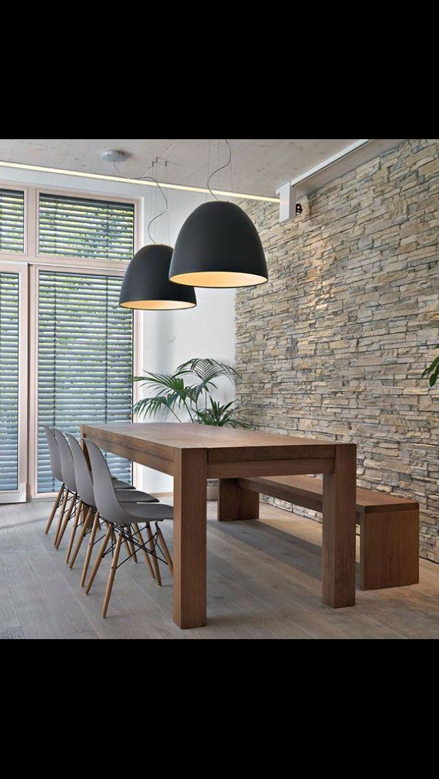 Kitchen table and bench kitchen ideas in 2018 pinterest salle salon and salle a manger design - Suspension contemporaine salon ...