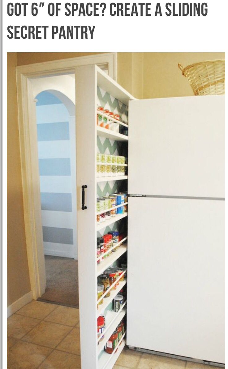 For the side of the fridgemake sure to allow for fridge door to