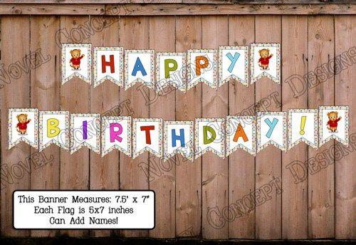 Daniel Tiger's Neighborhood Happy Birthday Banner | NovelConceptDesigns - Digital Art  on ArtFire