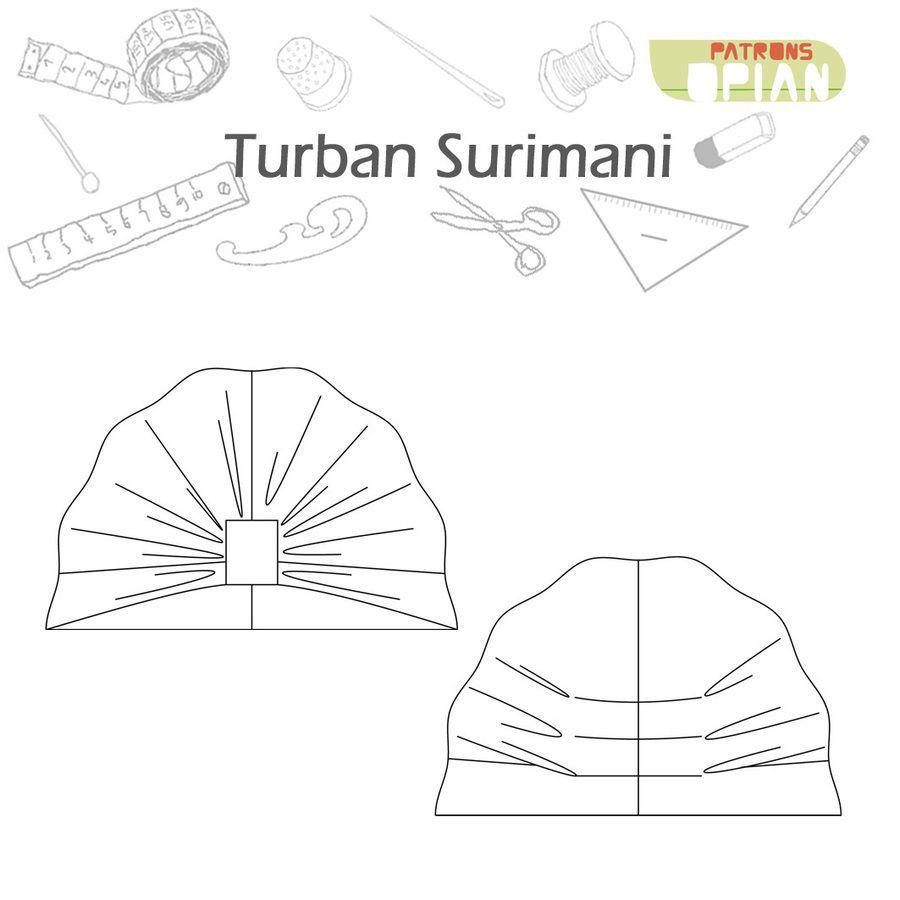 Turban Surimani - Patrons de couture et explications - Patrons de ...