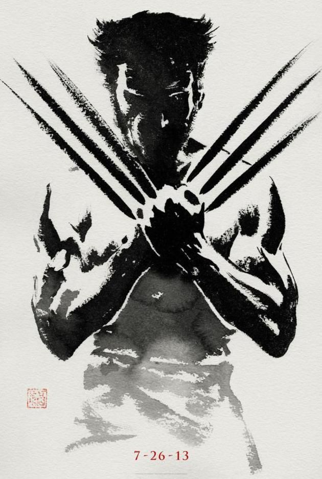 Strong culture of japan looks from the latest poster shows wolverine in the brush strokes of