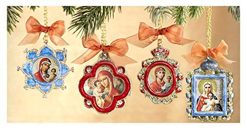 ornament set of 4 religious christmas