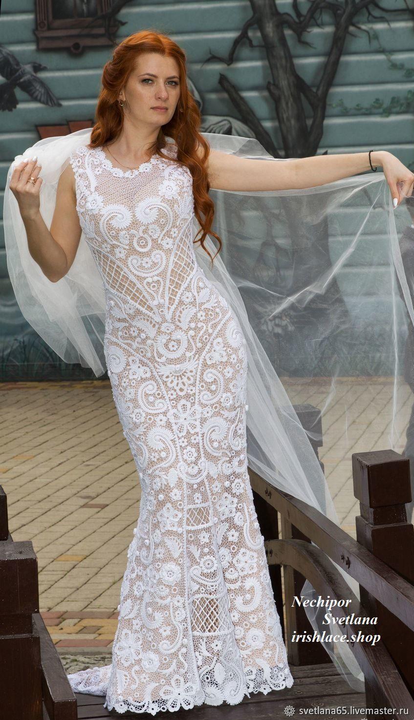 """Свадебное платье """"Оксана"""". Ирландское кружево – заказать ..."""