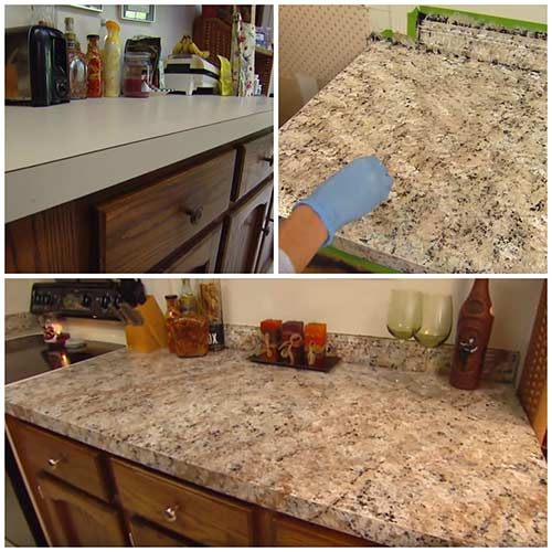 How To Paint Any Countertops To Look Like Granite Diy Created Diy Countertops Painting Countertops Countertops