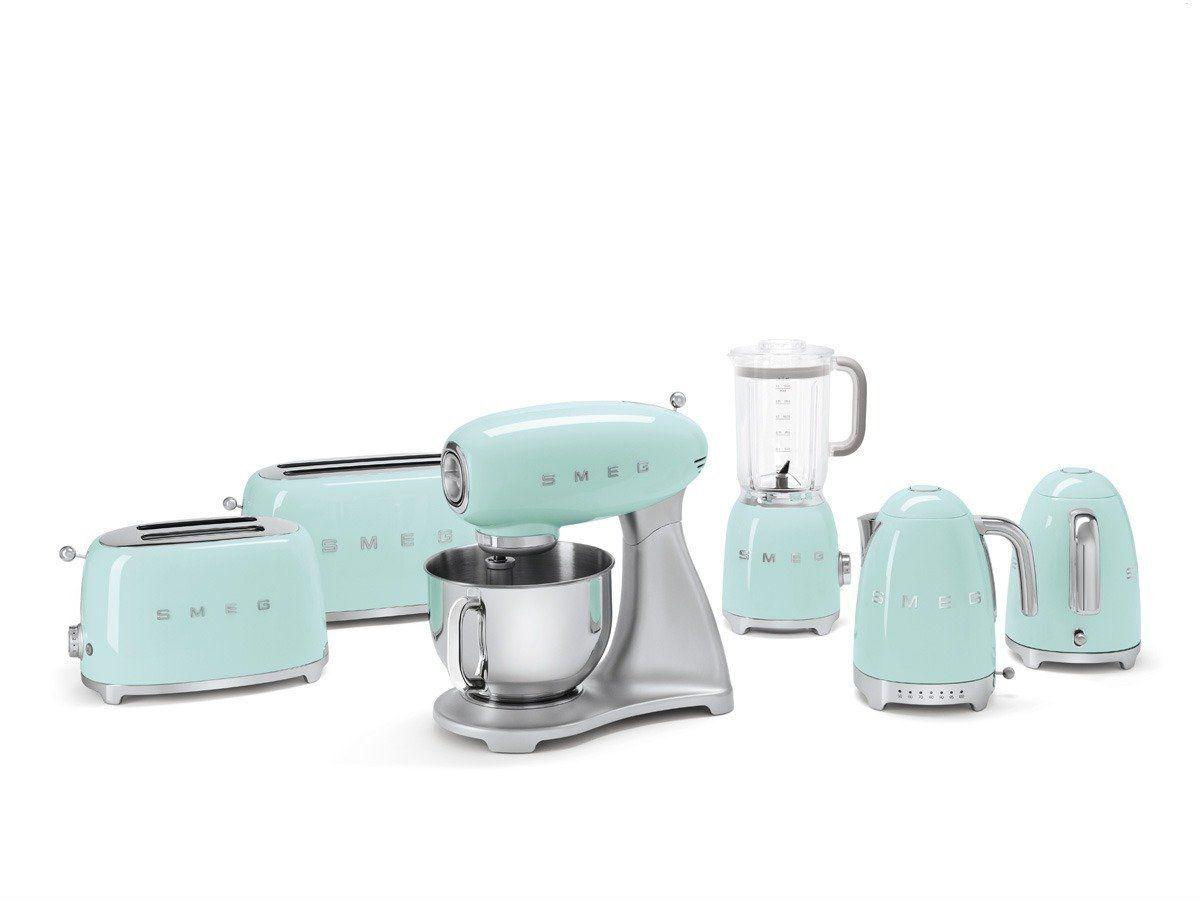 Amazon.de: Smeg SMF01PGEU Küchenmaschine Pastellgrün Rührgerät ...
