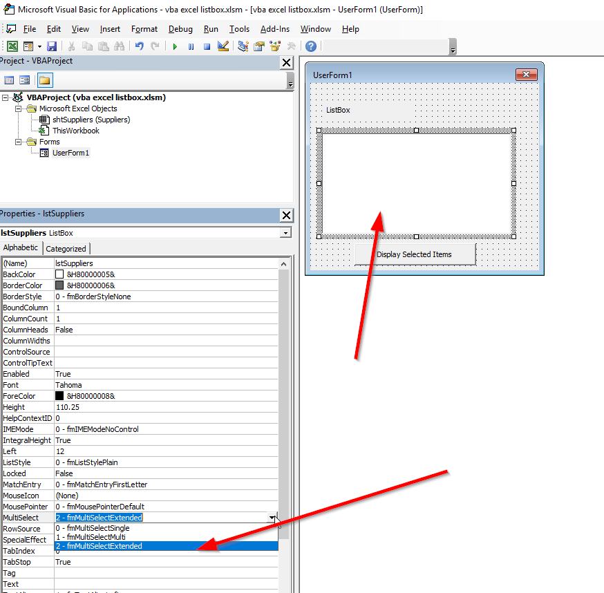 How do you use ListBox in Excel? | Visual Basic For Applications
