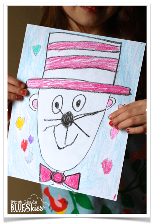 Cat In The Hat Directed Drawing For Reading Writing Celebration Week Dr Seuss Week First Grade Seuss Crafts Dr Seuss Activities Directed Drawing Kindergarten