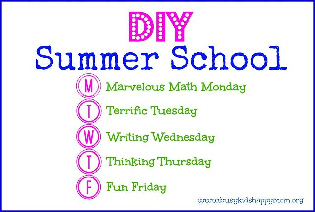 Do it yourself summer school from summer school school and activities diy summer school fun ideas for each day of the week and simple activities to solutioingenieria Gallery