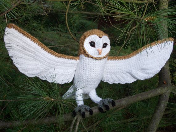 Amigurumi Owl Wings : Crochet Barn Owl Pattern PDF by GreatGreyCrochet on Etsy ...