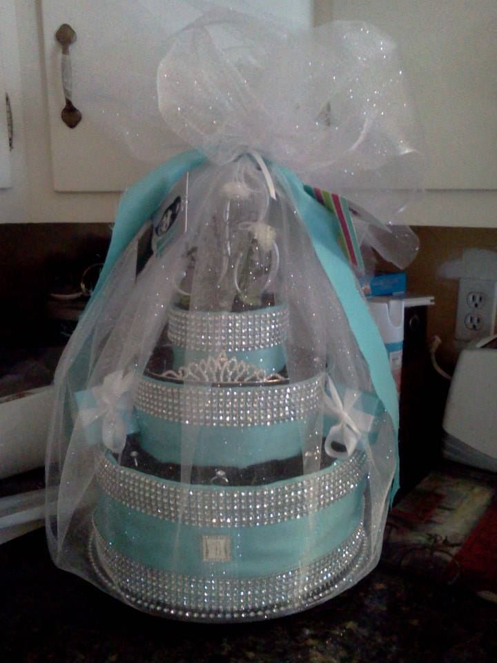 wedding towel at theme towel cake bridal tiffany bridal shower giftsunique