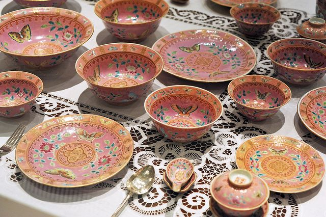 Nyonya Ware Porcelain Dish Bowl Chinese Porcelain