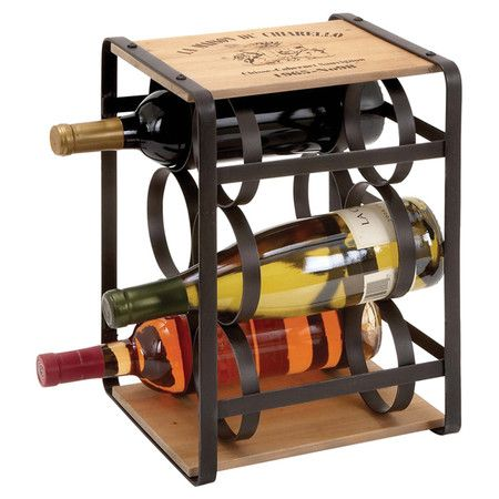 Found it at Wayfair - Moscato 6 Bottle Wine Rack in Black