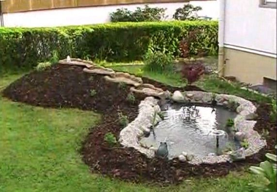 hochteich, Hause und Garten