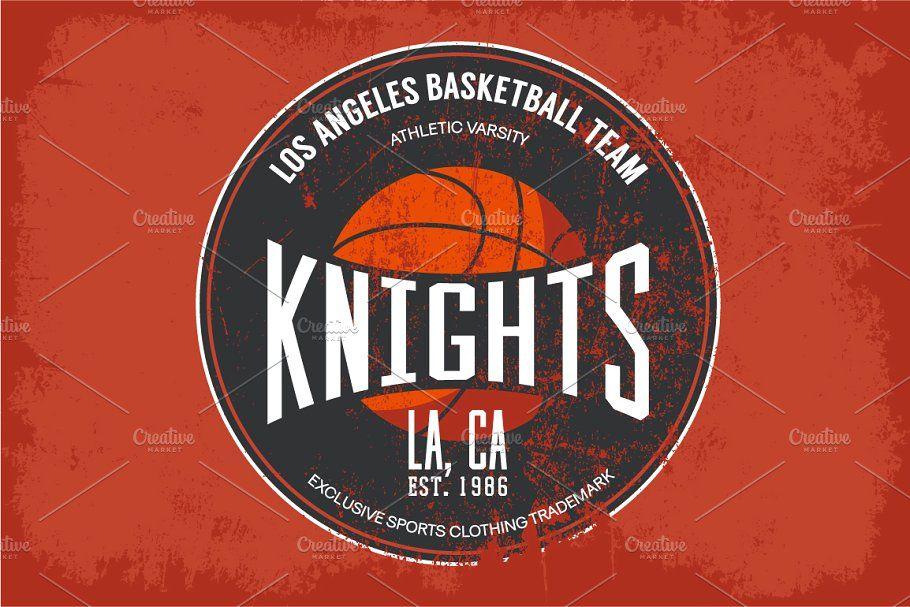 Basketball college team logo