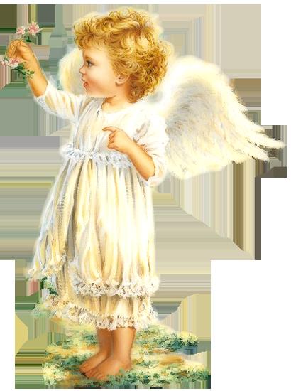 Cute Little Girl Angel Angeli Immagini Cartoline