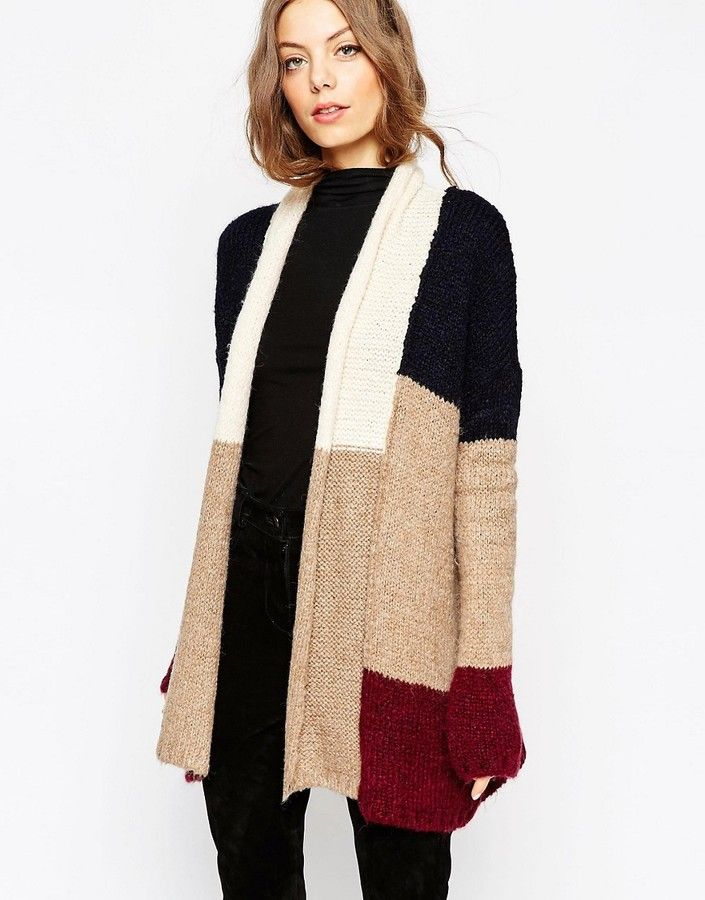 ASOS Chunky Patchwork Cardigan | My Style ♥ | Pinterest | Fall ...