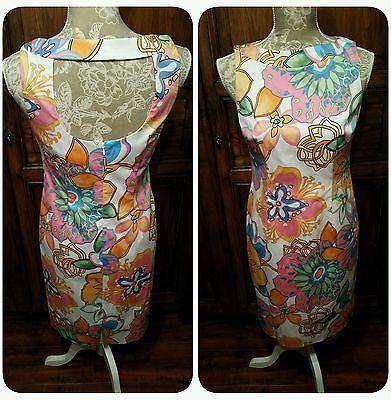 Talbots Petites Summer Floral Sheath Dress Size 6P Petite Cut Out Back NWOT