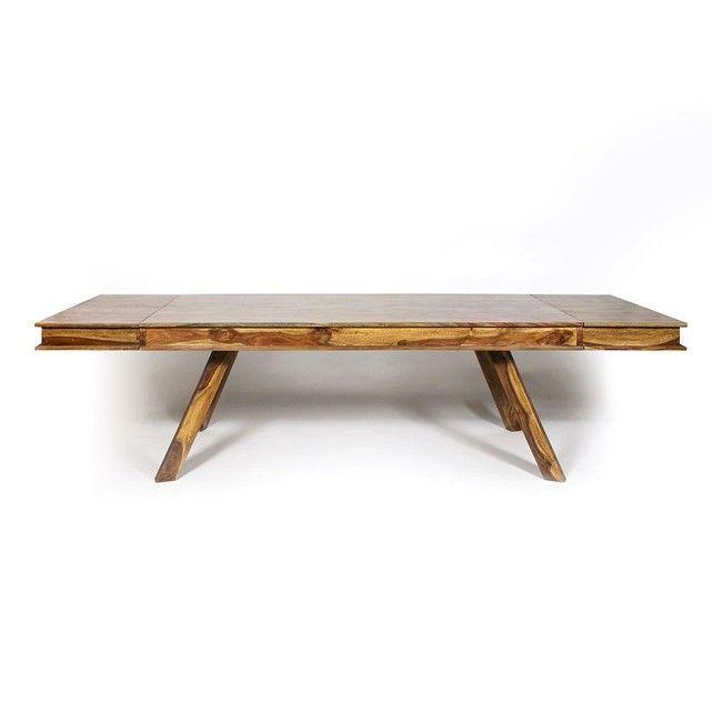 Table à manger bois massif scandinave allonges incluses PAB1