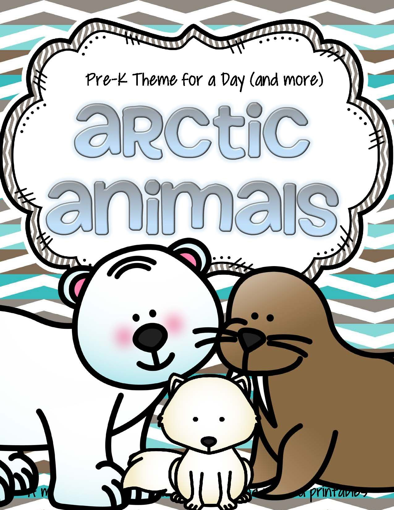 Arctic Animals Math And Literacy Activities And Centers
