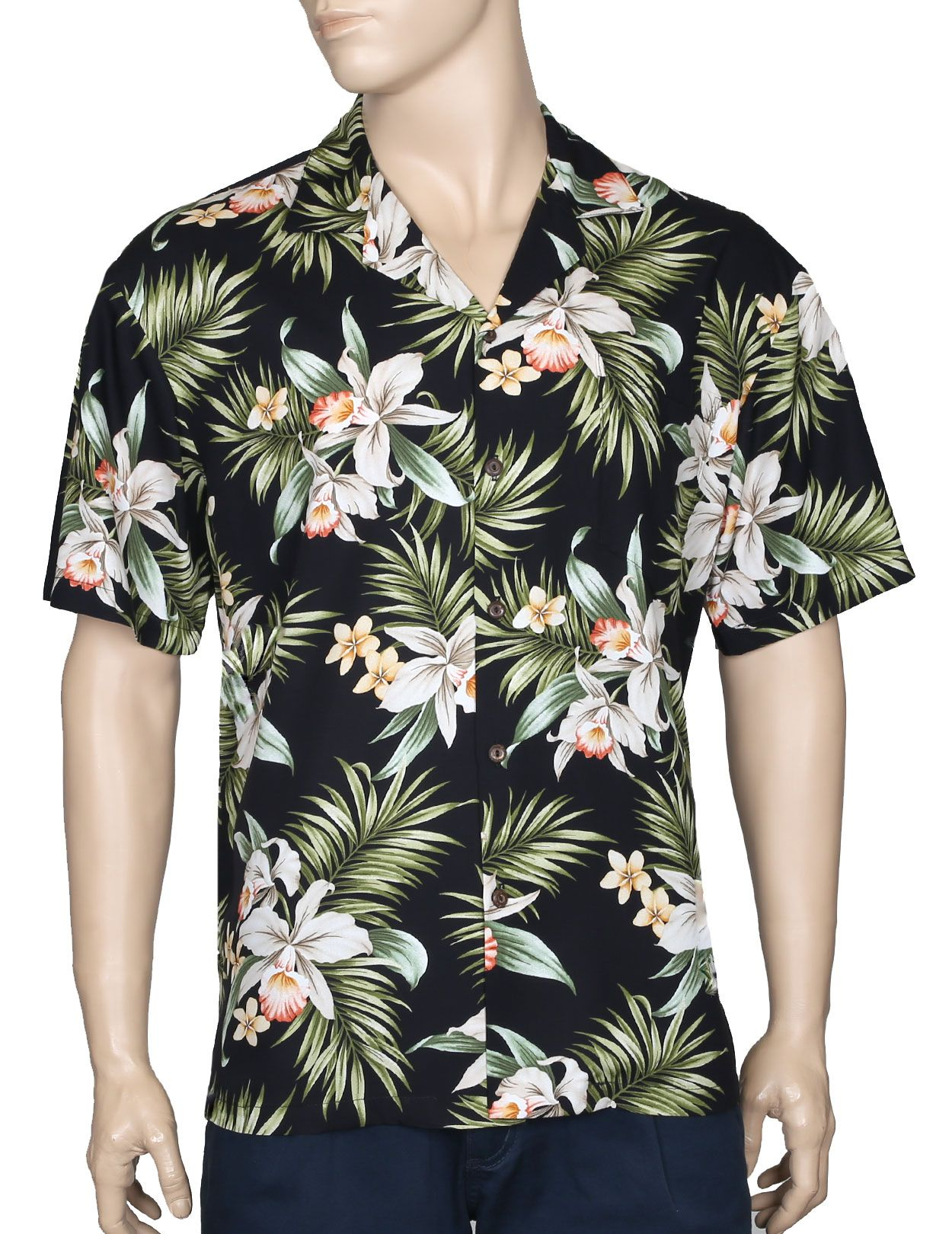 a4a9904d34 Classic Orchids Rayon Aloha Shirt | All About Hawaii & South Pacific ...